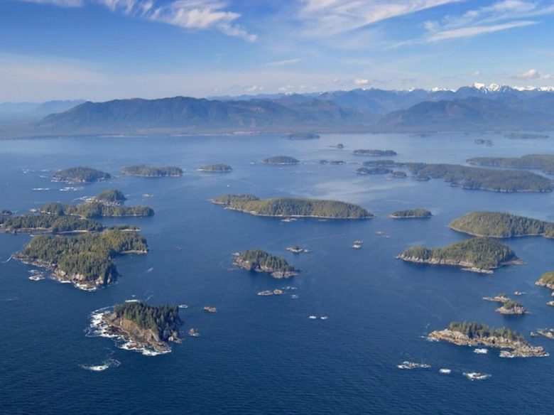 Aerial picture of the Broken Group Islands